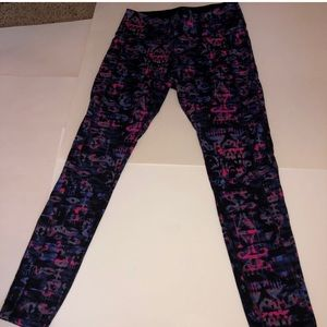 Soma sport colorful pink and purple leggings small